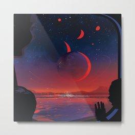 Trappist planet 1-e Metal Print