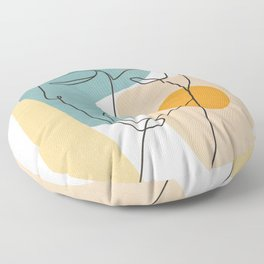 Abstract Face 25 Floor Pillow