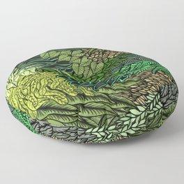 Leaf Cluster Floor Pillow