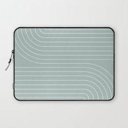 Minimal Line Curvature - Sage Laptop Sleeve
