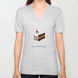 You Want A Piece of Me? Cake Illustration Unisex V-Neck