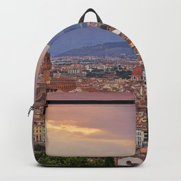 Panorama Florence, Italy. Backpack