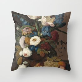 Severin Roesen Still Life Throw Pillow