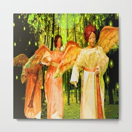 ANGELS BRING GLAD TIDINGS OF JOY Metal Print