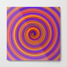 Delicious Roll Metal Print