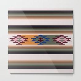 American Native Pattern No. 250 Metal Print