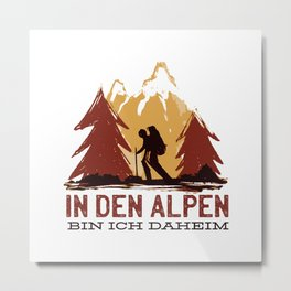 In The Alps I Am A Present At Home Metal Print