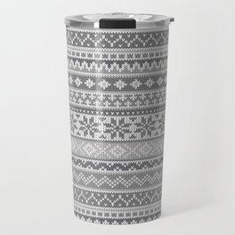 Fair Isle Gray Travel Mug