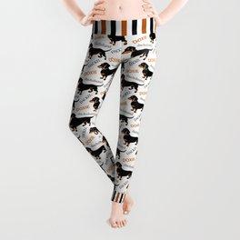 Black Tan Smooth Dachshund Leggings