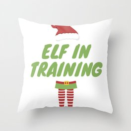 Elf In Training, Christmas Elves Family Group Throw Pillow