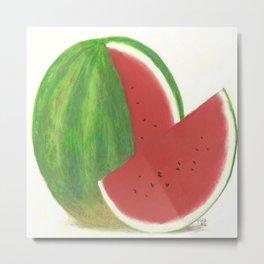 Big Fat Babydoll Watermelon Metal Print