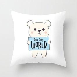 Polar Environmental Conservation climate change animal Throw Pillow