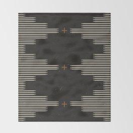 Southwestern Minimalist Black & White Throw Blanket