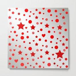 Red star, dot, heart Metal Print