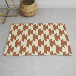 boho geometric aztec in ginger Rug