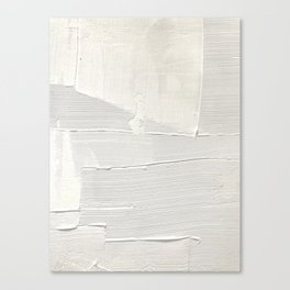 Relief [1]: an abstract, textured piece in white by Alyssa Hamilton Art Canvas Print