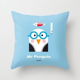 Mr. Penguin Throw Pillow