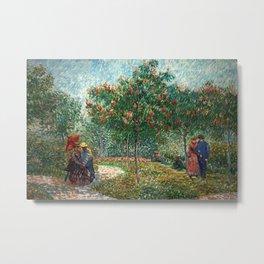 Vincent van Gogh - Couples in the Voyer d'Argenson Park at Asnières Metal Print