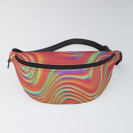 Holographic Abstract Waves - Arizona Fanny Pack