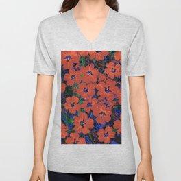 Flowers Pattern 5 DF Unisex V-Neck