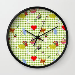 Favorites (with gingham) Wall Clock