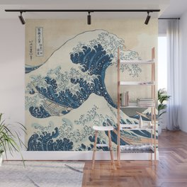 The Great Wave off Kanagawa by Katsushika Hokusai from the series Thirty-six Views of Mount Fuji Wall Mural