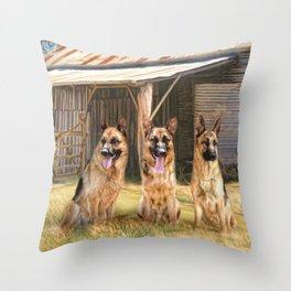 German Shepherds Throw Pillow