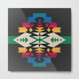 American Native Pattern No. 291 Metal Print