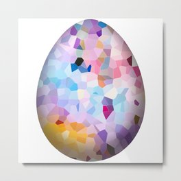 Abstract pink easter egg on white background Metal Print