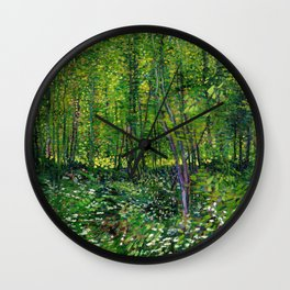 Vincent Van Gogh Trees and Undergrowth 1887 Wall Clock