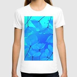 Poppies In Aqua Color #decor #society6 #buyart T-shirt