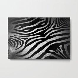 Zebra rug decor Metal Print