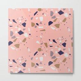 Pink Feminine Terrazzo Metal Print
