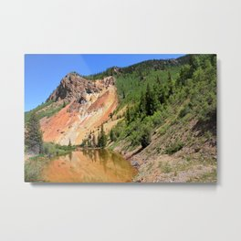 Cliff on Anvil Mountain, No. 2 of 2 Metal Print