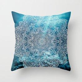 Sea Lights Mandala Throw Pillow