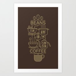 Pour Over Coffee Explained Art Print