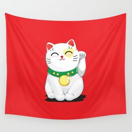 My Lucky Cat Wall Tapestry