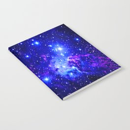 Fox Fur Nebula Galaxy blue purple Notebook