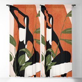Abstract Female Figure 20 Blackout Curtain