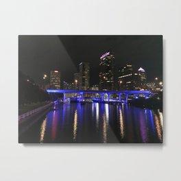 Tampa Bay at Night Metal Print