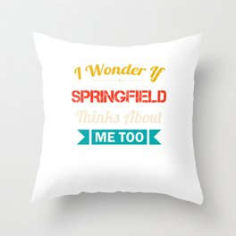 Springfield City Lover Gift Funny Retro Vintage Souvenirs Throw Pillow
