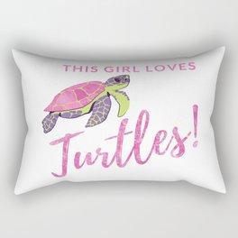 This Girl Loves Turtles for Sea Turtle Lovers Rectangular Pillow