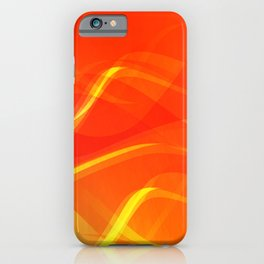 Theme of fire for the banner. Bright red and orange glare on a gentle background for a fabric or pos iPhone Case