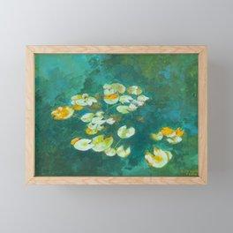 Serene Lotus Pond Framed Mini Art Print
