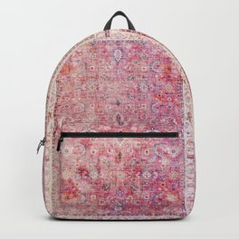 N45 - Pink Vintage Traditional Moroccan Boho & Farmhouse Style Artwork. Backpack