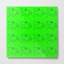 Green Frogs Metal Print