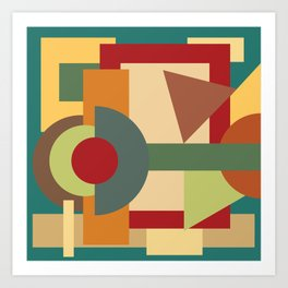 Abstract geometric composition study- Picture Frame Art Print