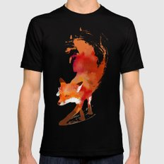 Vulpes vulpes Black LARGE Mens Fitted Tee
