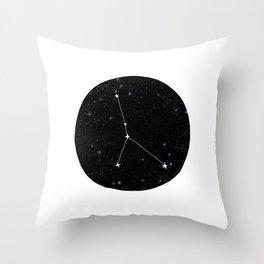 Cancer zodiac constellation star chart night sky star signs Throw Pillow