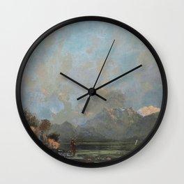 "Gustave Courbet ""Lake Geneva (Le Lac Léman - La Dent du midi)"" Wall Clock"